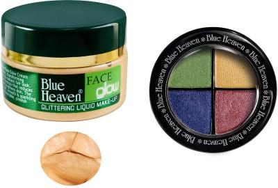 Blue Heaven Face Glow & Eye Magic Eye Shadow 604 Combo