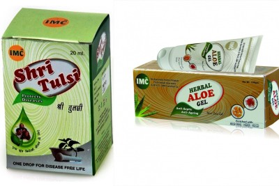 IMC Combo of Aloe Gel And Tulsi Drops
