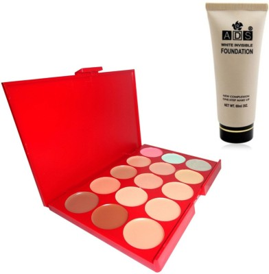 ADS Concealer / White invisible foundation(Set of 2)