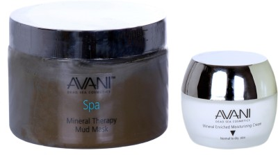 Avani Mineral Therapy Mud Mask And Mineral Enriched Moisturizing Cream