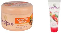Clear Face Apricot Scrub With Kashmiri Walnut With Fruit Face Wash(Set of 2) best price on Flipkart @ Rs. 468