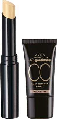 Avon Skin Goodness City Block CC Cream 18g - Nude & Ideal Luminous Concealer Stick 2g-Light Wheat