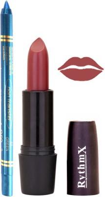 Rythmx Redish Brown Lipstick And Pro Non Transfer Blue Kajal 28105