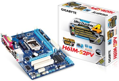 Gigabyte H61+Dual Core+Ram DDR3 4GB Combo Motherboard(DDR3 4GB Black)