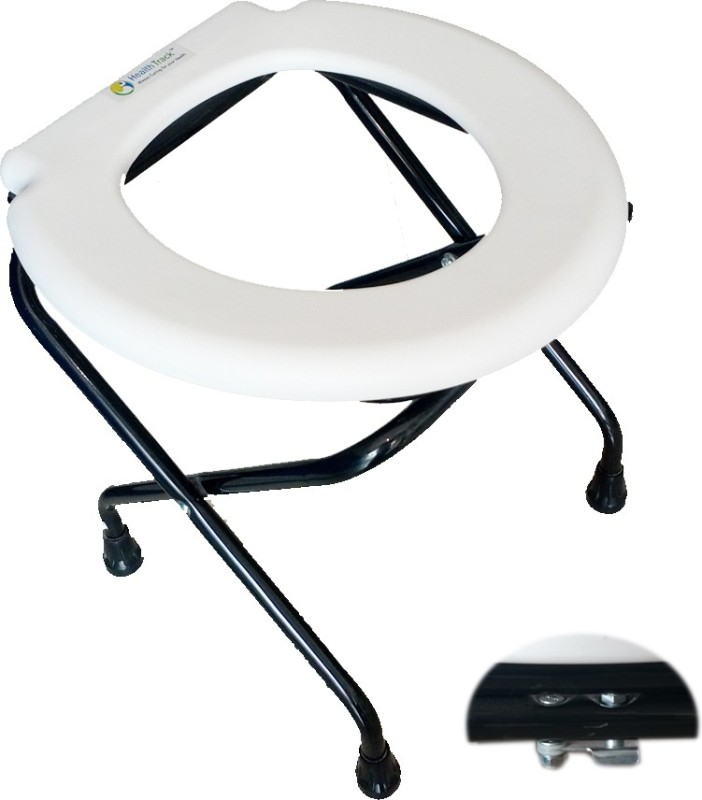 HealthTrack Commode Chair(White)