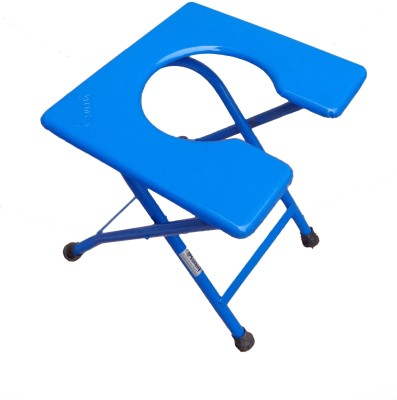 SURBHI Heavy Square (Cross Bar) model Commode Chair(Blue)