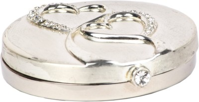 JewelandGifts Silver Plated crystal studded LoveHearts