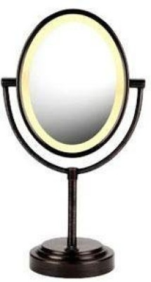 Conair Oval Double - Sided Lighted Mirror - Oiled