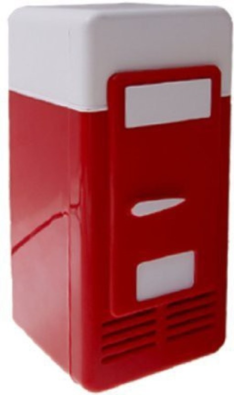 Shrih SH - 03046 Desktop USB Mini Fridge 5 L Compact Refrigerator(Red, White)