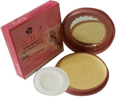 ADS New-Fashion-Flawless-and-fresh-all-day-long-silky-soft-texture-Spc-24UV-Protection-Face-Powder Compact  - 14 g