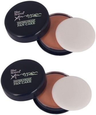 Blue Heaven Xpression Pan Cake( Set of 2 Pc ) Compact  - 16 g