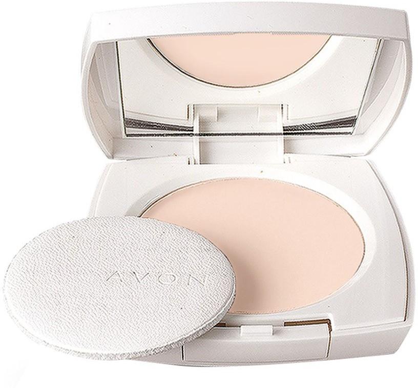 Avon Ideal White Pressed Powder (Soft Bisque) Compact  - 11 g(Soft Bisque)