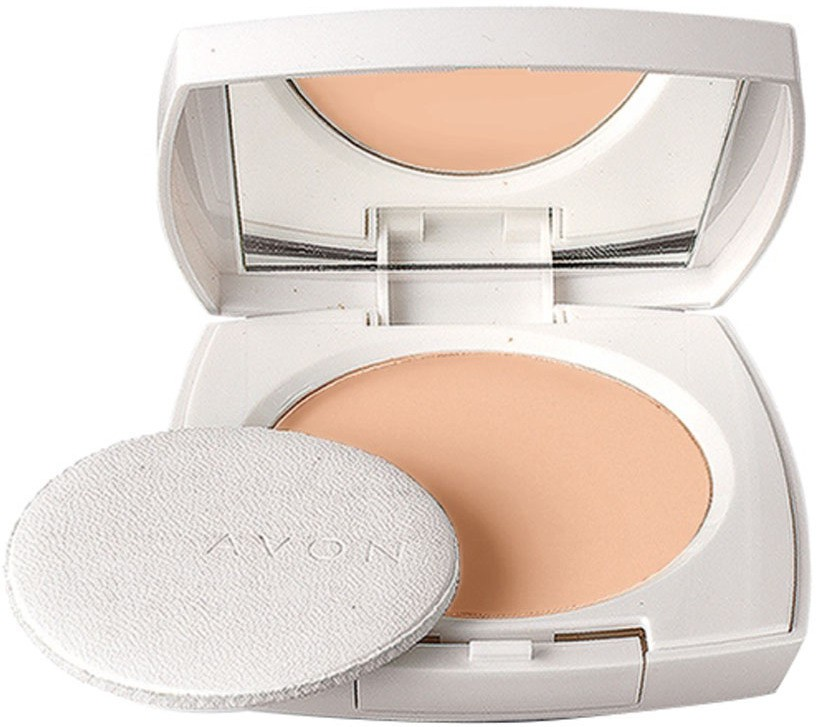 Avon Ideal White Pressed Powder (Natural) Compact  - 11 g(Natural)