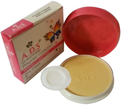 ADS New-Fashion-Perfect-matter-oil-free-and-Non-comedogenic-face-Powder Compact  - 18 g