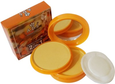 ADS New-Fashion-Perfect-Coverage-2in1-Face-Powder Compact  - 26 g