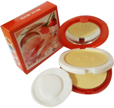 ADS New-Fashion-Real-Rose-Natural-Pure-2in1-With-Vitamin-C-Face-Powder Compact  - 20 g