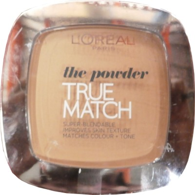 L,Oreal Paris True Match Powder Compact  - 9 g(Golden Beige W3)