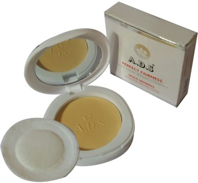 ADS New-Fashion-Perfect-fairness-glow-multi-mineral-UVA-UVB-Protection-Face-Powder Compact  - 18 g