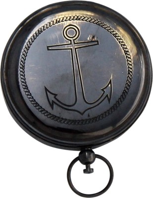 Shree Sai Pushbutton Anchor Style Black Nautical Showpiece Compass