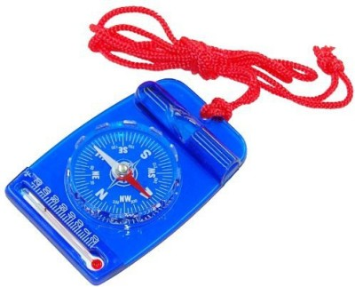 Treknor Safeguard Whistle Compass with Thermometer Compass(Blue, Red, White)