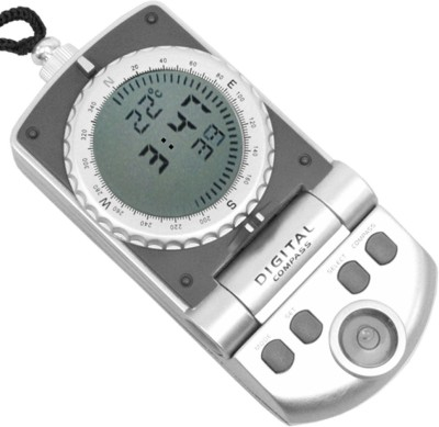 JM Digital Thermometer Compass(Grey)