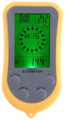 Zingalalaa 8 In 1 Multi-Function Digital LCD Altimeter Barometer Thermo Temperature Compass(Yellow)