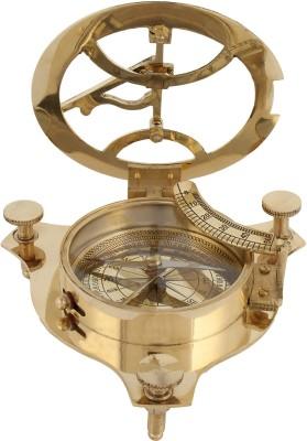 Artshai 4 Inch Brass Sundial Compass