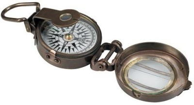 Authentic Models Compass Reproductions Lensatic Compass Compass(White, Black)