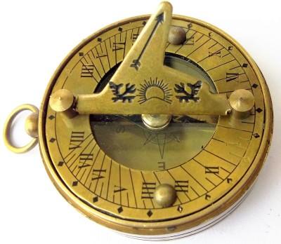 Kartique Antique Look Pocket Sundial Compass(Gold)