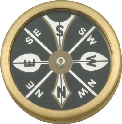 Marble Knives Large Pocket Compass with Brass Body Compass(Gold)