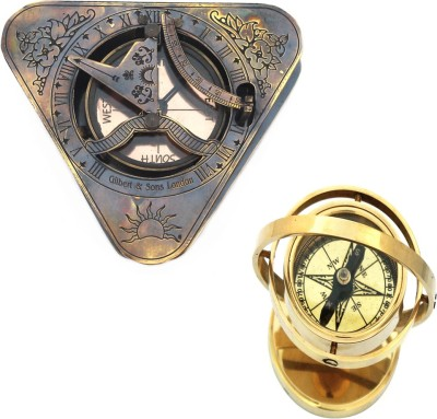 Shree Sai Handicraft Brass Compass Combo Gift Compass