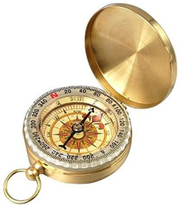 Leegoal PPbean Classic Pocket Style Camping Compass Compass(Gold)