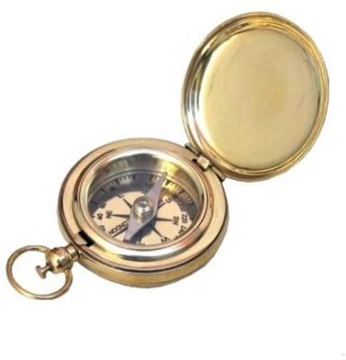 ITDC Brass Face Pocket Compass Compass(Gold, Black)