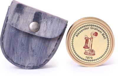 Artshai Antique look brass Compass(Gold)