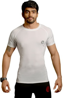 Omtex Ultimate Men Compression T-Shirt(White Half Sleeve)
