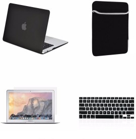 LUKE For MACBOOK AIR 13.3 inch Hard Case with Sleeve , Silicone Keyboard Cover, LCD HD Clear Screen Protector +12pcs Dust plug FREE + Touchpad Protector Free Combo Set