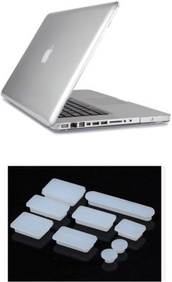 Pindia Transparent Crystal Apple Macbook Pro Retina 13 13.3 Hard Case Cover Anti Dust Ports Combo Set