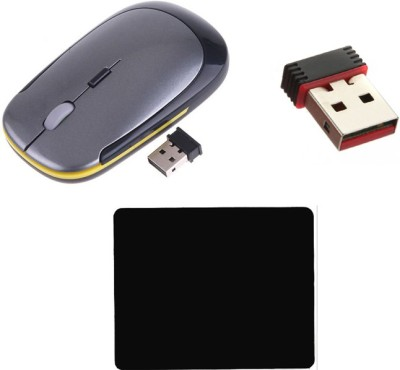 Namo Art Wireless Mouse with Wifi USB Adapter and Mouse Pad Combo Set