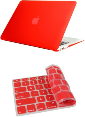 Pindia Red Matte Apple Macbook Pro 15 15.4 Hard Case Shell Cover Keyboard Combo Set