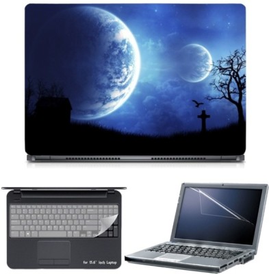 Skin Yard Digital Space Planets Graves Laptop Skin with Screen Protector & Keyboard Skin -15.6 Inch Combo Set