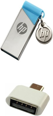 HP 32 GB V215b Pen Drive with OTG Adapter Combo Set