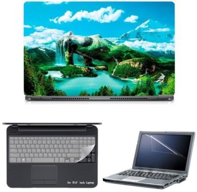 Skin Yard Women Green World Nature Laptop Skin with Screen Protector & Keyguard -15.6 Inch Combo Set