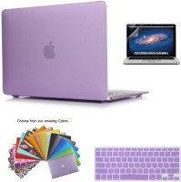 "LUKE For Macbook 12-Inch 12"" Retina Display PURPLE Case Laptop Computer Rubberized Hard Shell Case Cover and Keyboard Cover for Model A1534 (Newest Ve"