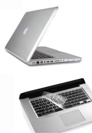 Pindia Transparent Crystal Finish Apple Macbook Pro 13 13.3 inch Md313hn/A Md313ll/A Hard Case Shell Cover Keyboard Combo Set