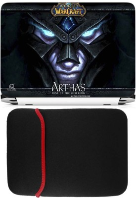 FineArts Arthas Laptop Skin with Reversible Laptop Sleeve Combo Set