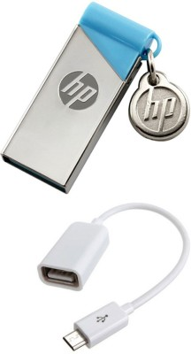 HP 16 GB Pendrive With OTG Cable Combo Set