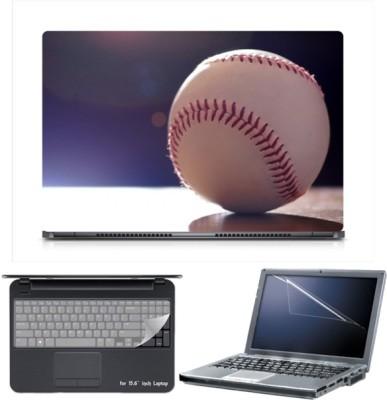 Skin Yard Sparkle Baseball Laptop Skin with Screen Protector & Keyboard Skin -15.6 Inch Combo Set