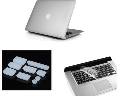 Pindia Transparent Matte Finish Apple Macbook Pro 13 13.3 Mb990hn/A Mb990ll/A Hard Case Shell Cover Anti Dust Ports Keyboard Combo Set