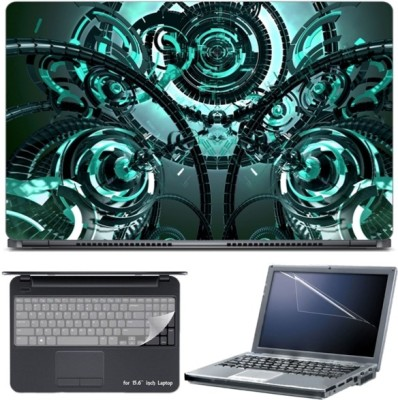Skin Yard Mechanism Technology 3D Abstract Laptop Skin with Screen Protector & Keyboard Skin -15.6 Inch Combo Set