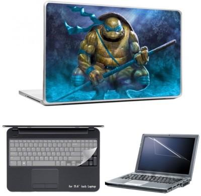 Skin Yard Purple Ninja Turtle Laptop Skin With Laptop Screen Guard And Laptop Key Guard -15.6 Inch Combo Set